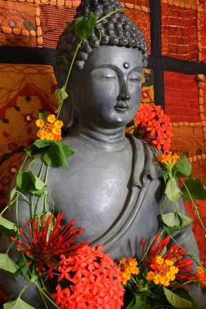 Buddha spiritual altar photo