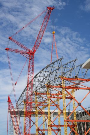 site: Construction site of large structure Stock Photo