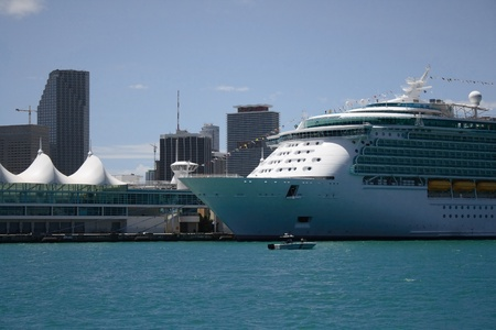 Cruiseship in the port of miami photo