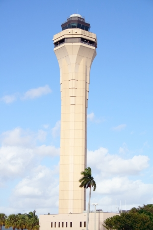 View of Miami s air traffic control tower at MIA photo