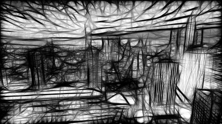 Night New York. Rush on the highway cars. Textures. Neon grange style.