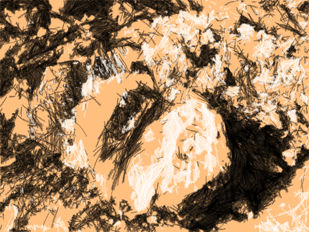 Abstract crystals of rock salt close up. Smooth cut of salt formation. Texture artistic drawing. Charcoal quick sketch style. Stock fotó