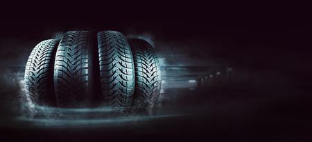 Car tires on the street 版權商用圖片