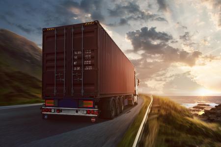 Truck on the Road 版權商用圖片
