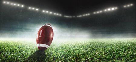 Amercian football in a stadium 版權商用圖片