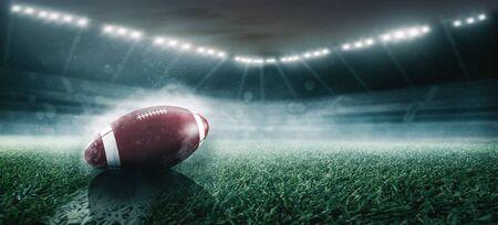 Football in a stadium 版權商用圖片
