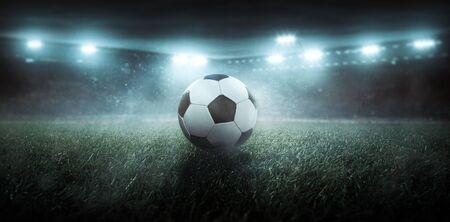 Soccer ball in a stadium