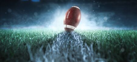 American football background 版權商用圖片 - 131953671