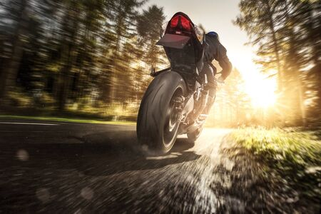 Motorcycle full speed
