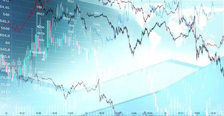 Trading graph market 版權商用圖片