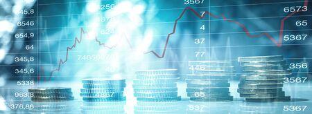 Finance chart graph 版權商用圖片