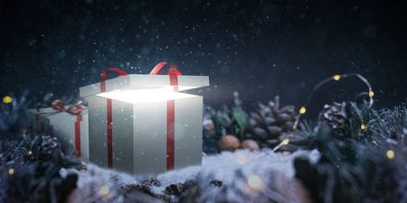 Christmas presents - Christmas - background Фото со стока