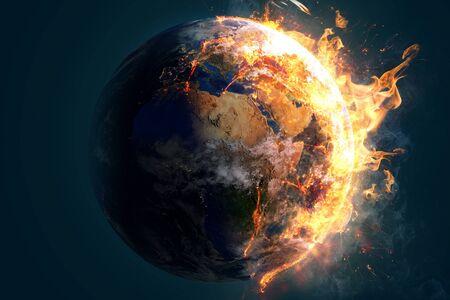 Burning world 版權商用圖片