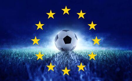 Kick - soccer - European Championship Foto de archivo - 132243436