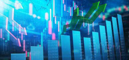 Stocks - stock market - chart 免版税图像