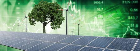 Renewable energy chart 免版税图像