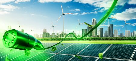 Renewable energy Sustainable future 免版税图像