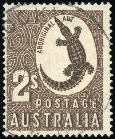 Postage stamp (Australia - Aboriginal Art)