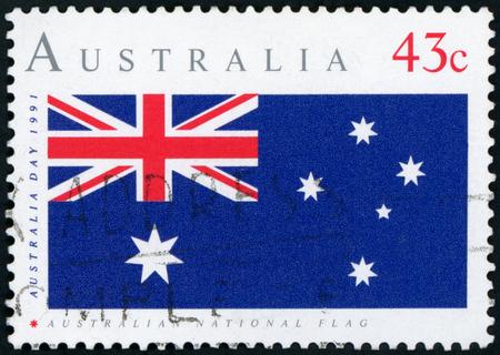 Postage stamp - Australian flag