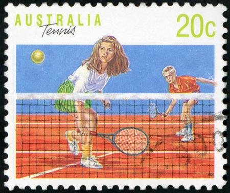 Postage stamp ( Australia - Tenis )