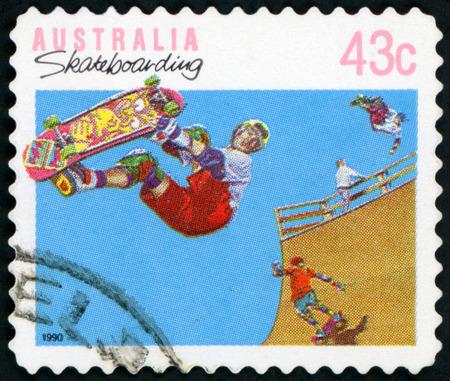 Postage stamp ( Australia - Skatebording )