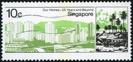 Postage stamp - Singapore