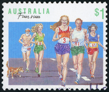 Postage stamp Australia - Fun run