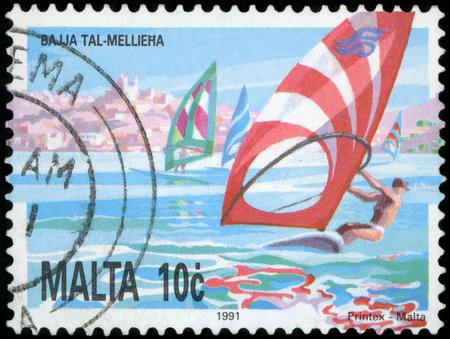 Postage stamp - Malta Editorial
