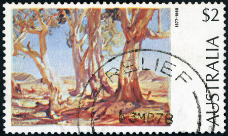 Australia - Postage stamp Editorial