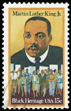Postage stamp - Portrait of Martin Luther King Jr.