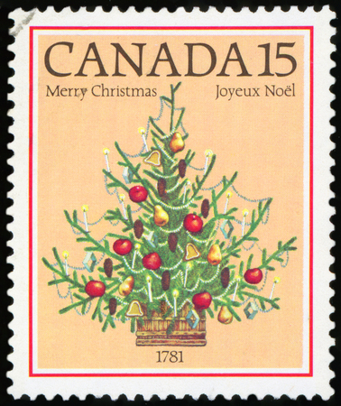 Postage Stamp - Christmas tree (Canada)
