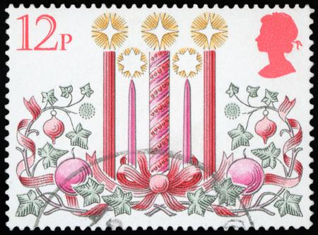 Postage stamp - Advent Wreath