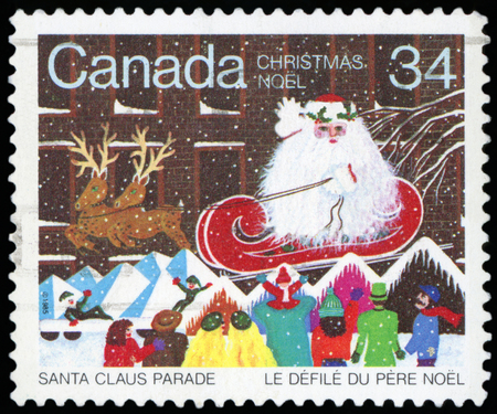 Postage Stamp -Christmas (Canada) Editorial