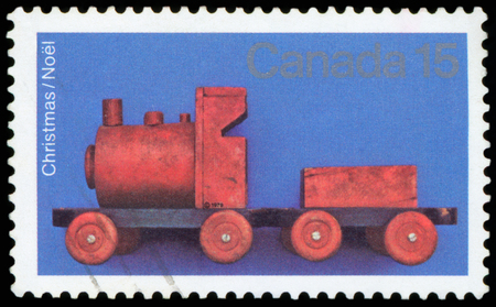 Postage Stamp - Canada (Christmas Noel) Editorial