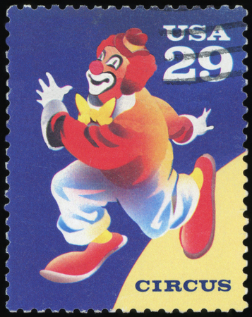US Postage stamp - Circus