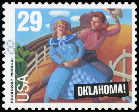 Postage stamp - Broadway musical (Oklahoma)