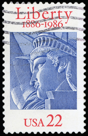 US Postage stamp - Liberty 1880-1980