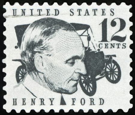 UNITED STATES OF AMERICA - 1968: Henry Ford Stock fotó - 87506810