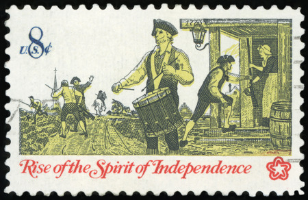 US Postage stamp - Rise of the spirit of Independence