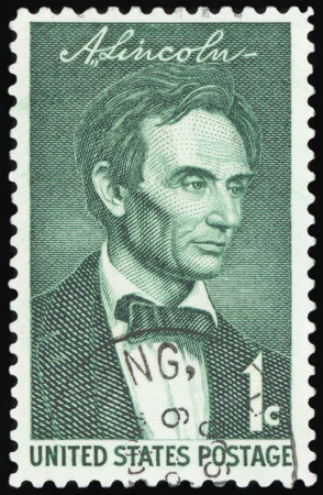 US Postage stamp - Portrait of Abraham Lincoln