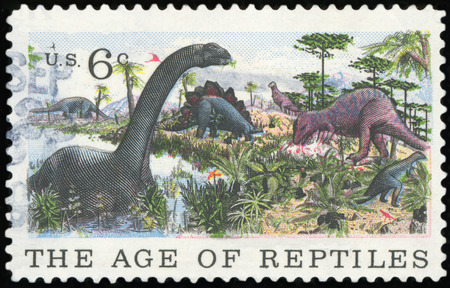 US Postage stamp - The Ege of Reptiles