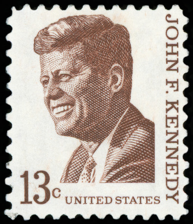 US Postage stamp - Portrait of John F. Kennedy