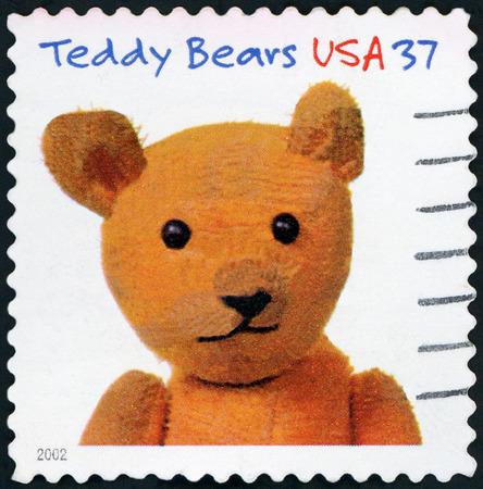 UNITED STATES OF AMERICA - CIRCA 2002: A stamp printed in the United States of America shows image of teddy bear, circa 2002