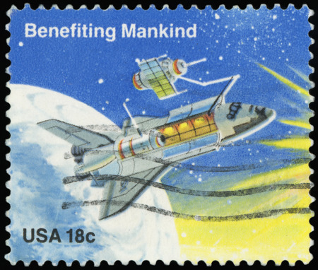 USA - CIRCA 1981: A stamp printed in the USA shows Benefiting Mankind, circa 1981