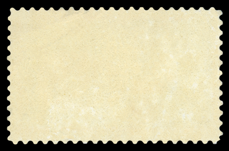 Blank Postage Stamp - Isolated on black background.