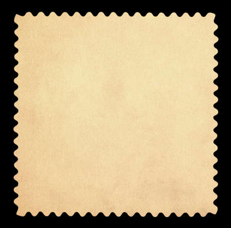 Blank postage stamp - Isolated on Black background