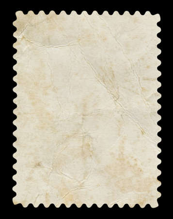 Blank postage stamp - Isolated on Black background Banque d'images