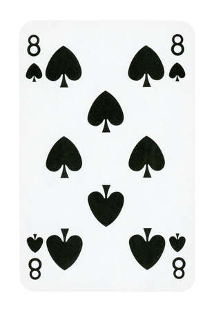 Nine of Spades playing card - isolated on white