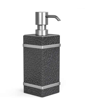 Soap dispenser isolated on white background - 3d render Banco de Imagens