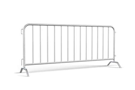 A steel barricade isolated on a white background - 3d render